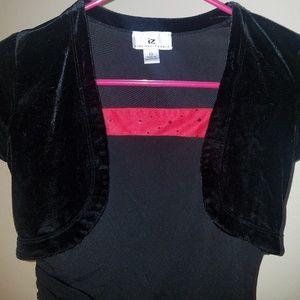 IZ byer California Dresses - IZ black velvet and red sequined dress size 10